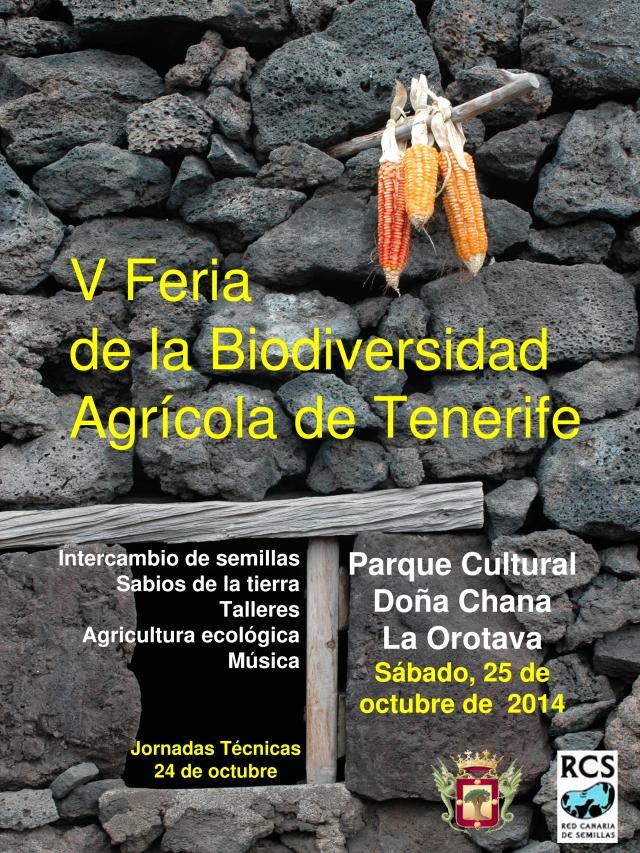 Póster V Feria Biodiversidad Agrícola de Tenerife